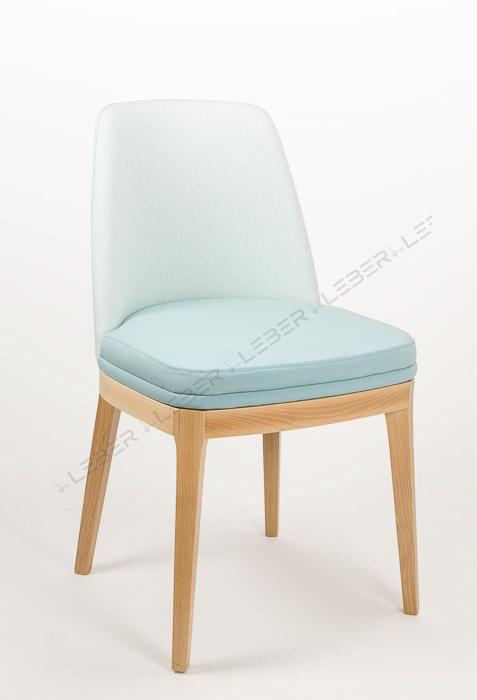 Silla juls silla de madera tapizada leber fornitures for Sillas apilables tapizadas