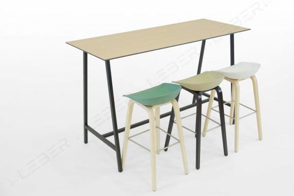 Mela mesa alta rectangular para hostelería