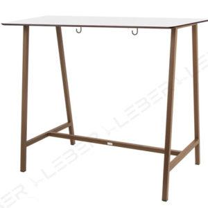 Mela mesa alta rectangular para hosteleria
