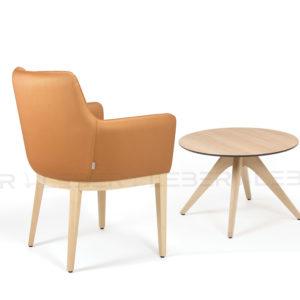 Mesa Pruc auxiliar de madera para hotel